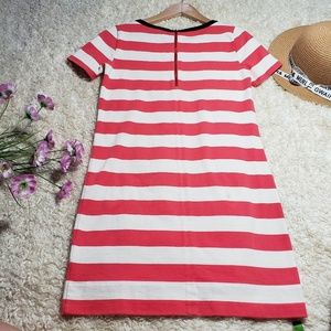 J. Crew Dresses - J.Crew Stripes pink and white shirt dress sleeves
